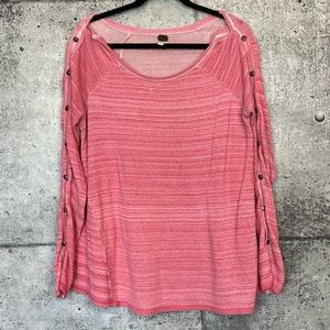 Free People We The Free // Button Sleeve Knit Top